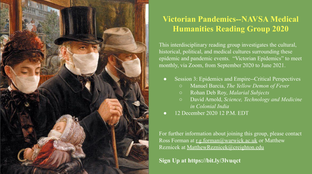 ad for NAVSA medical humanities reading group